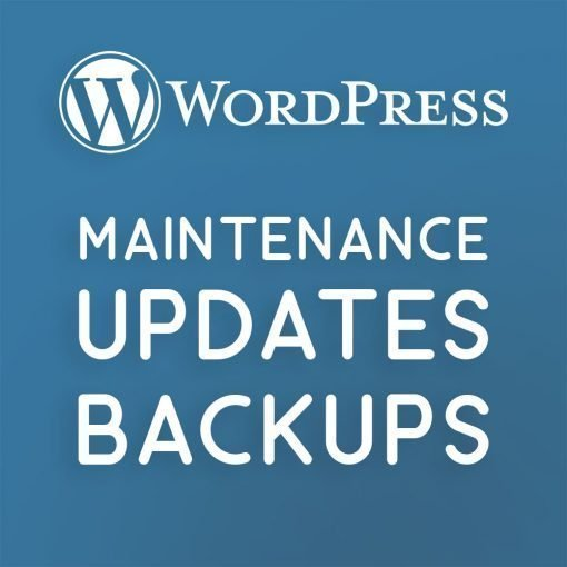 Wordpress Maintenance Updates-Backups